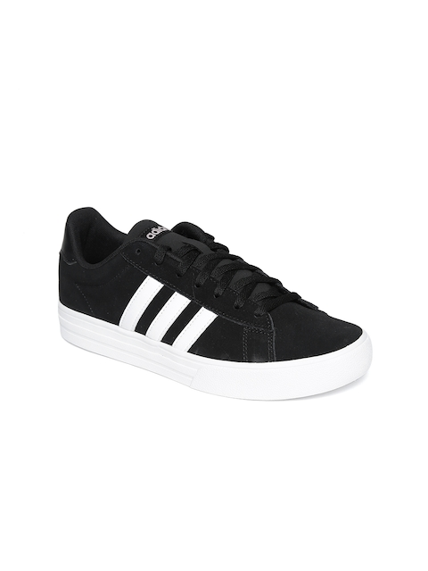 Adidas Women Black Daily 2.0 Leather Basketball Shoes