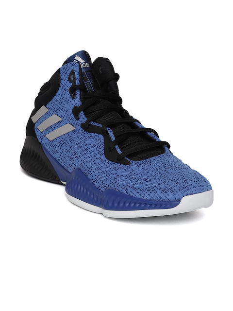 Adidas Men Blue MAD BOUNCE 2018 Basketball Shoes