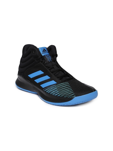 Adidas Men Black Mid-Top PRO SPARK 2018 Basketball Shoes
