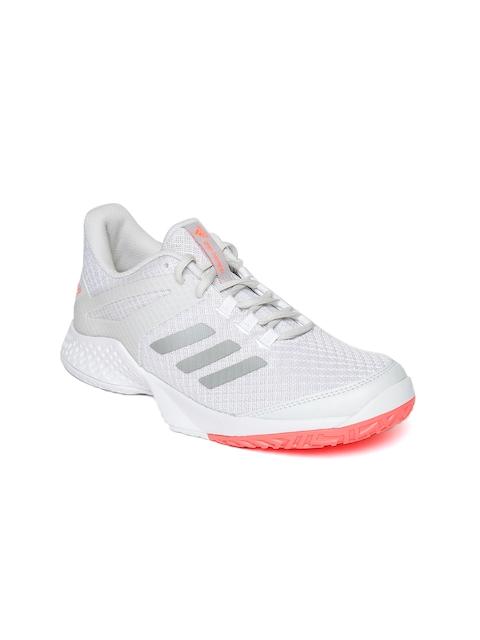 Adidas Women Grey ADIZERO Club 2 Tennis Shoes