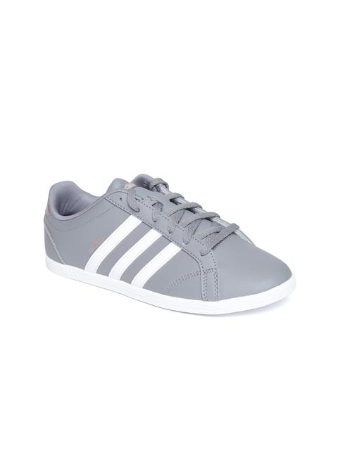 Adidas Women Grey CONEO QT Tennis Shoes