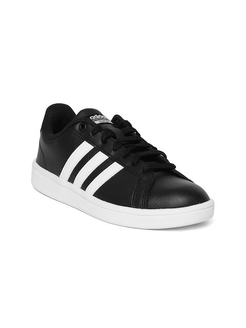 Adidas Women Black Cloudfoam Advantage Tennis Shoes