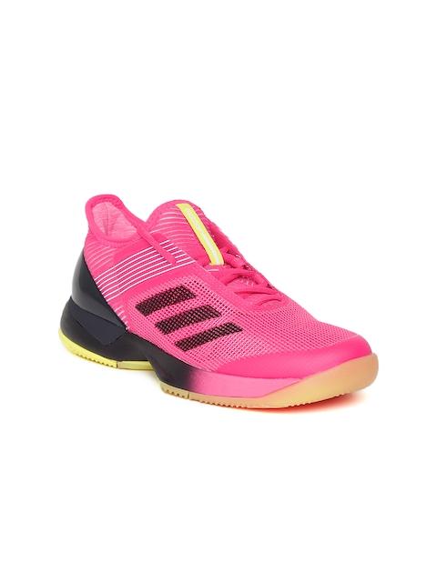 Adidas Women Pink Adizero Ubersonic 3 Tennis Shoes