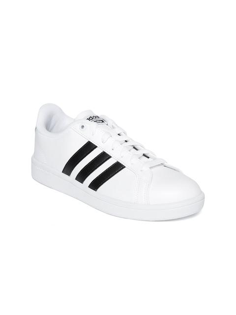 Adidas Women White Cloudfoam Advantage Tennis Shoes