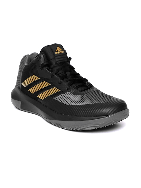Adidas Men Black & Grey D Rose Lethality Basketball Shoes