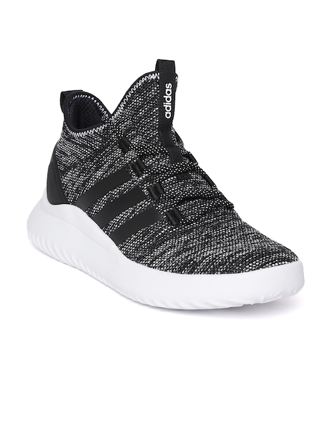 Adidas Men Black & White Ultimate Patterned Basketball Shoes