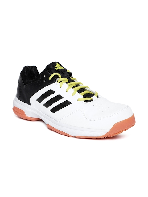 Adidas Men White & Black Quick Force IND Badminton Shoes