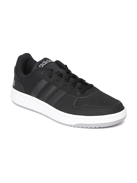 Adidas Men Black Hoops 2.0 Basketball Shoes