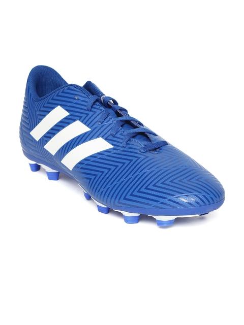 Adidas Men Blue Nemeziz 18.4 FXG Printed Football Shoes