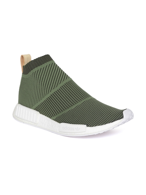 Adidas Originals Men Olive Green NMD_CS1 PK Casual Shoes