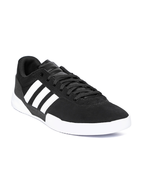 Adidas Originals Men Black City Cup Suede Skateboarding Shoes