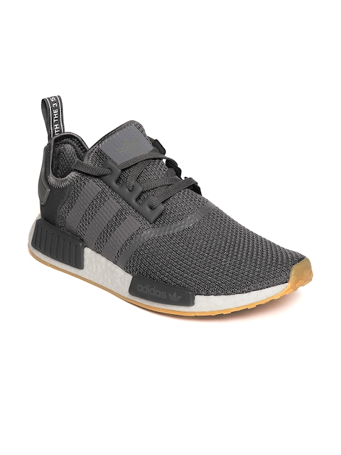 Adidas Originals Men Charcoal Grey NMD_R1 Casual Shoes