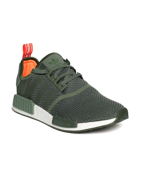 Adidas Originals Men Olive Green NMD R1 Casual Shoes