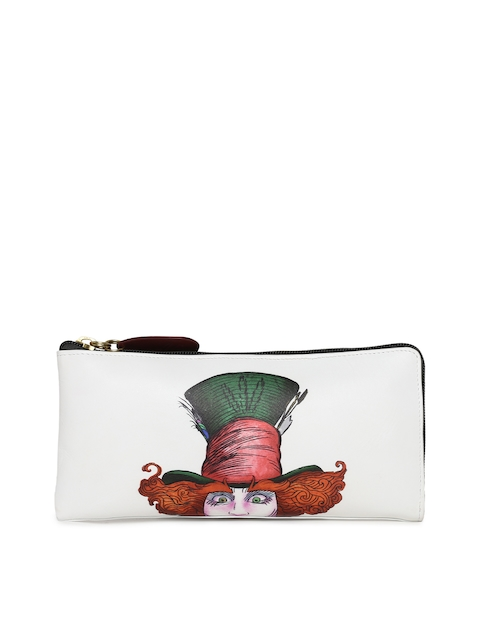 Holii Women White Printed Zip Around Wallet