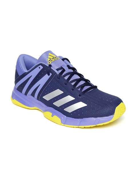 Adidas Men Navy Blue & Purple WUCHT P3 Colourblocked Badminton Shoes