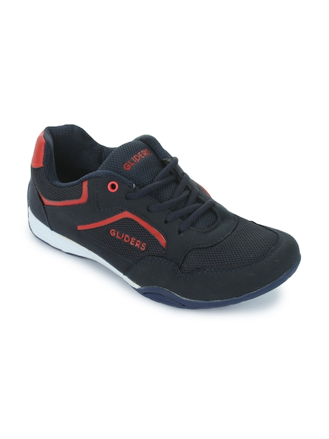 Gliders Men Navy Blue Running Shoes