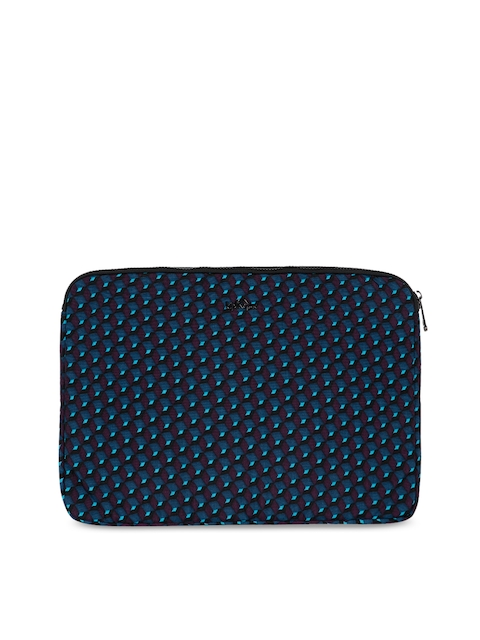 Kipling Unisex Navy Blue Printed Laptop Sleeve