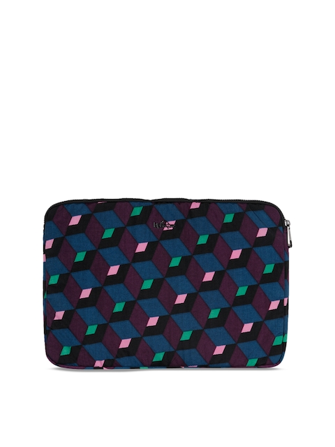 Kipling Unisex Maroon & Blue Printed Laptop Sleeve