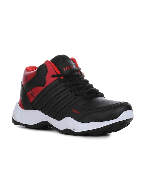 Columbus Men Red Synthetic Mid-Top Running Shoes