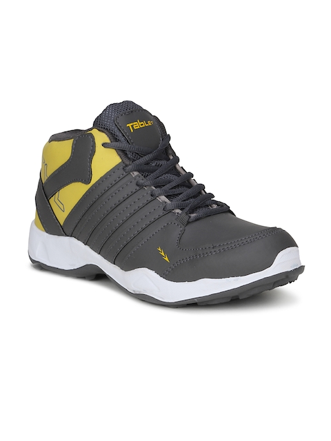 Columbus Men Yellow Synthetic Mid-Top Running Shoes