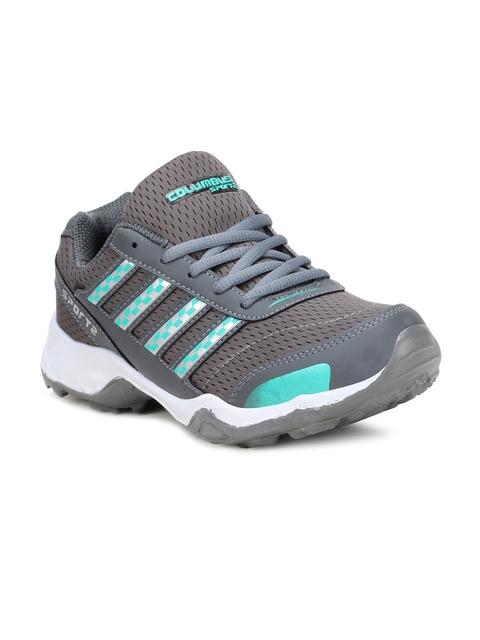 Columbus Men Grey Running Shoes TB-3333-GreyGreen-10