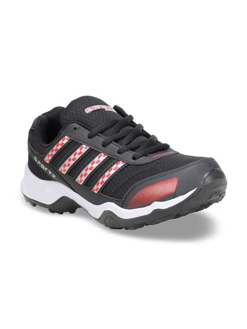 Columbus Men Black Running Shoes TB-3333-BlackRed-10