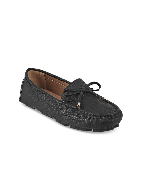 Mochi Women Black Loafers