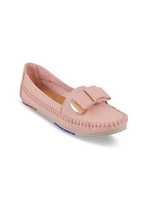 Mochi Women Pink Loafers