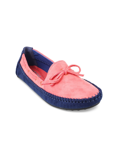 Mochi Women Blue Loafers