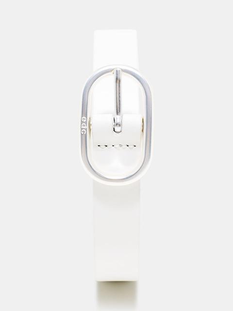 ESPRIT Women White Solid Leather Belt