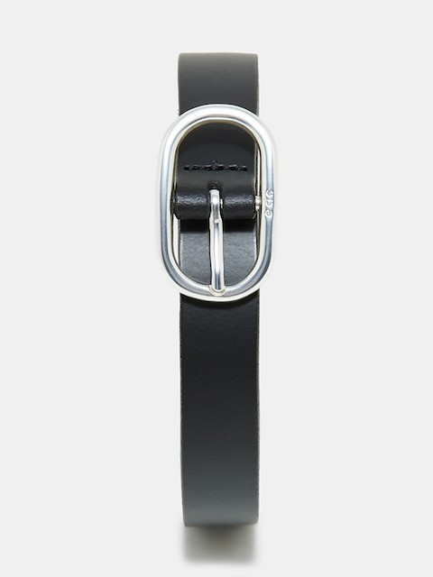 ESPRIT Women Black Solid Leather Belt