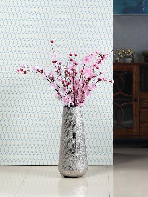 Athome by Nilkamal Silver-Toned Ceramic Vase