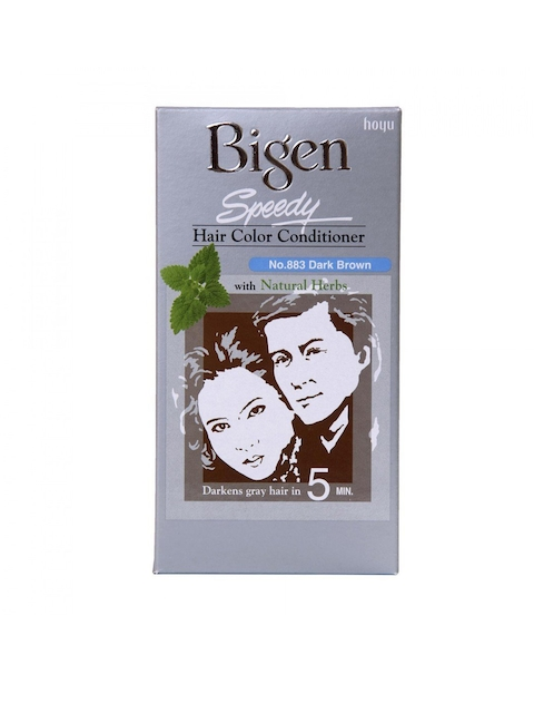 Bigen Unisex Dark Brown Speedy Hair Colour Conditioner 883
