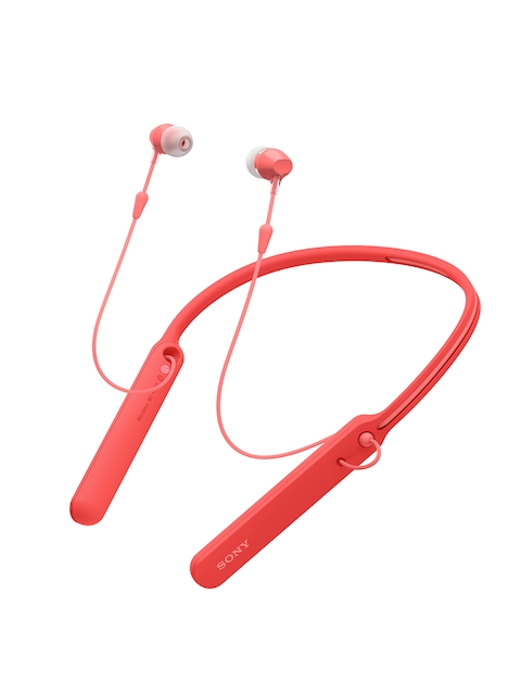 Sony Unisex Red WI-C400/R In-Ear Bluetooth Headphones with Neckband