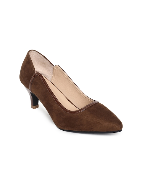 CODE by Lifestyle Women Brown Solid Pumps