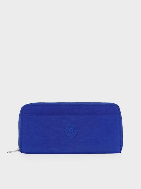 Kipling Unisex Blue Solid Travel Pouch