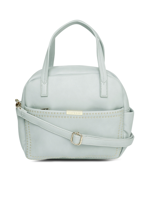 Caprese Grey Studded Daisy Handheld Bag