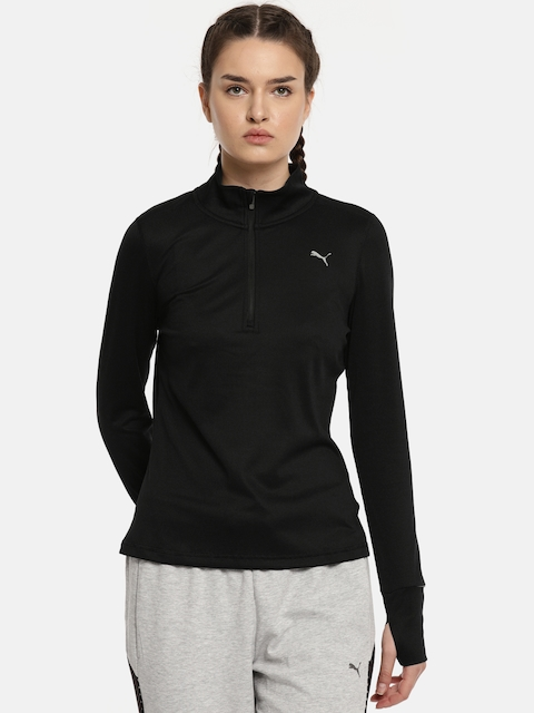 Puma Black Run 1/2 Zip Top W Sweatshirt