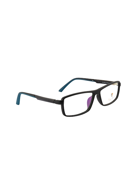 Ted Smith Unisex Black Solid Full Rim Rectangle Frames TS-7487_NBI11