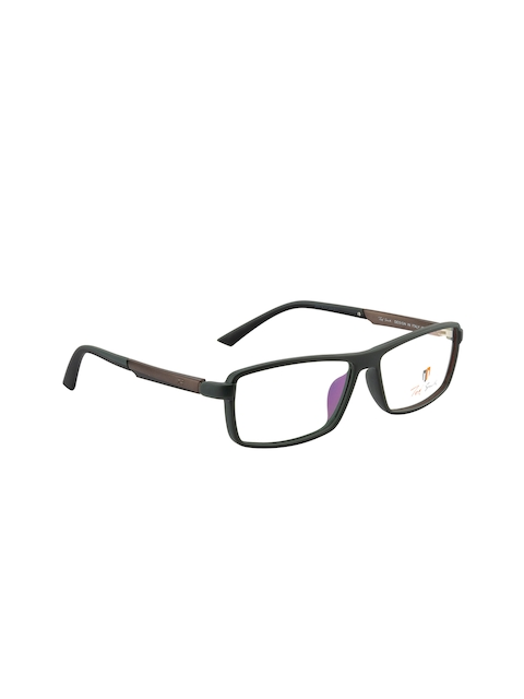 Ted Smith Unisex Black Solid Full Rim Rectangle Frames TS-7487_GNI12