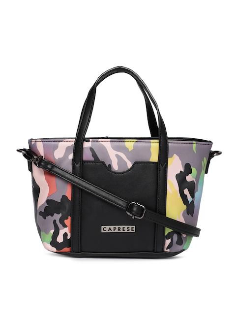 Caprese Multicoloured Camouflage Printed Donatella Handheld Bag