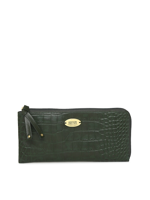 Hidesign Green Textured Zip Around Wallet