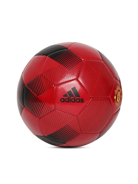 ADIDAS Men Red & Black Manchester United FC Printed Football