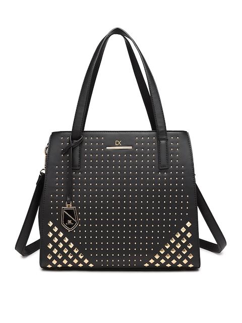 Diana Korr Black Embellished Handheld Bag