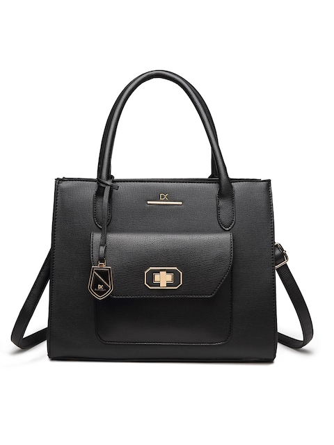 Diana Korr Black Solid Handheld Bag