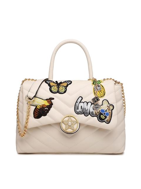 Diana Korr Beige Textured Handheld Bag
