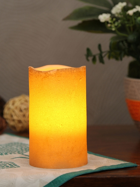 Athome by Nilkamal Silver Flameless Candle