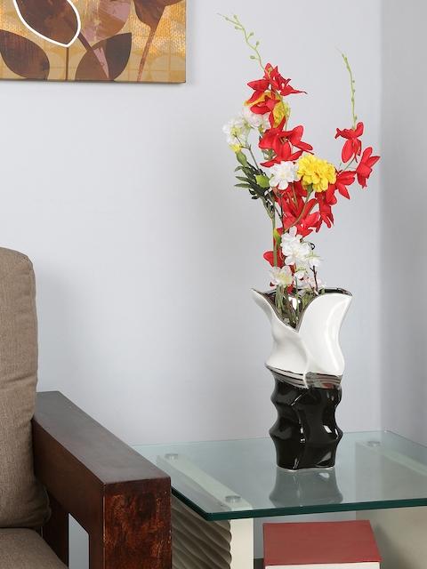 Athome by Nilkamal Black & White Ceramic Vase