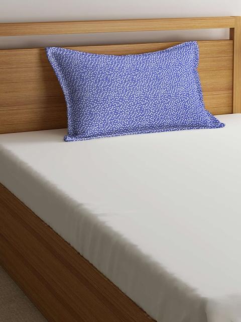 THE BABY ATELIER Kids Purple & White 40.6 cm x 60.9 cm Rectangular Pillow Cover