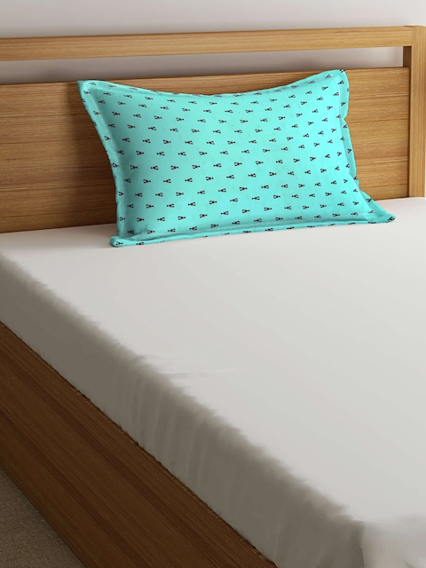 THE BABY ATELIER Kids Turquoise Blue & Red 40.6 cm x 60.9 cm Rectangular Pillow Cover